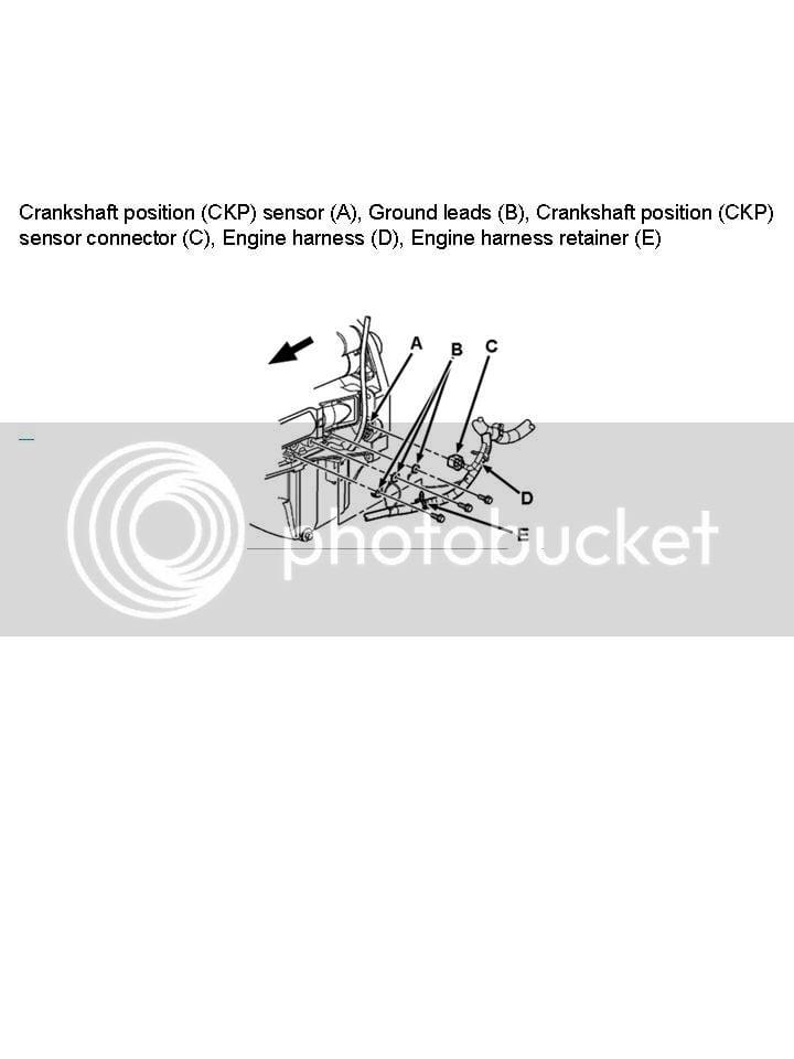 Crankshaft position sensor location | Chevy Colorado & GMC