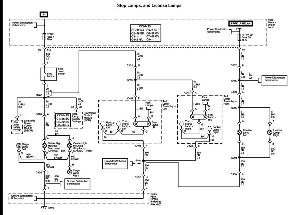 Back Up Lights Wiring Diagrams Canyon on