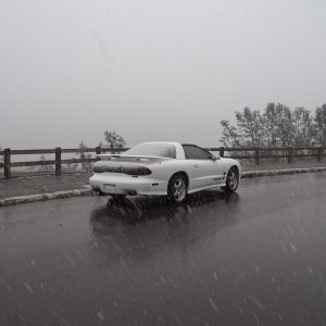 1st time driving in snow Don Pedro Reservoir