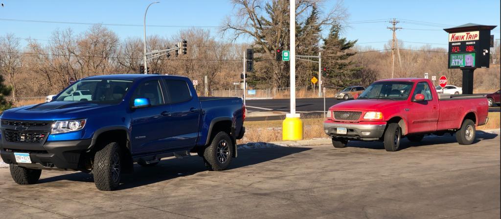 ZR2 vs F150 Size - Chevy Colorado & GMC Canyon